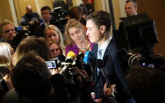 Outgoing prime minister Taavi Rõivas after the no confidence vote, Nov. 9, 2016.