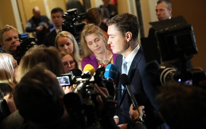 Outgoing prime minister Taavi Rõivas after the no confidence vote, Nov. 9, 2016.