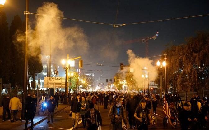 Donald Trumpi vastased meeleavaldused Portlandis.