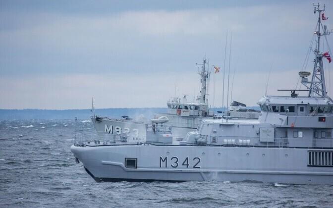 Корабли группы минных тральщиков НАТО останутся в Эстонии до понедельника.