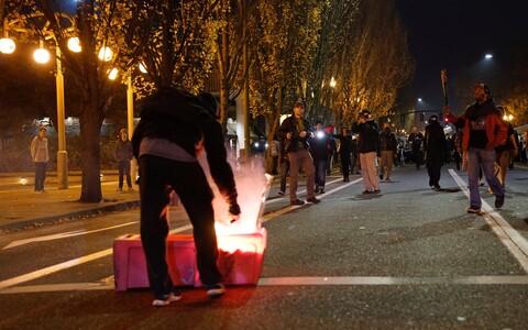 Протесты в Портленде.
