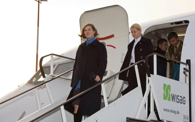 Kersti Kaljulaid saabumas töövisiidile Berliini.