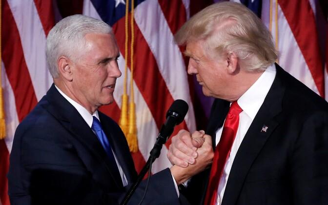 Mike Pence ja Donald Trump.