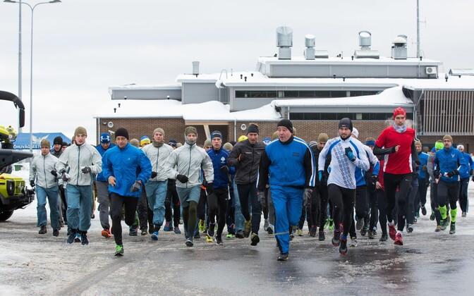 Estonian, German and Slovenian troops participated in a charity run at Ämari Air Base on Friday. Nov. 11, 2016.
