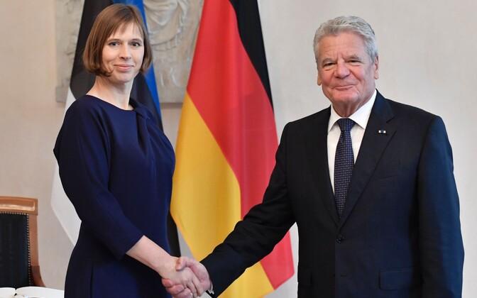 Presidents Kaljulaid and Gauck in Berlin, Nov. 11, 2016.