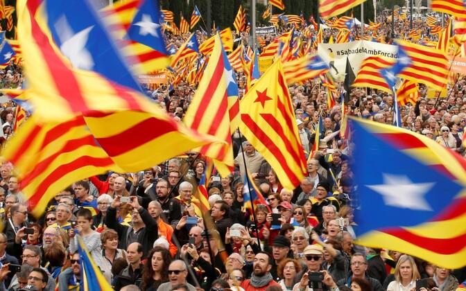 Meeleavaldajad Barcelonas.