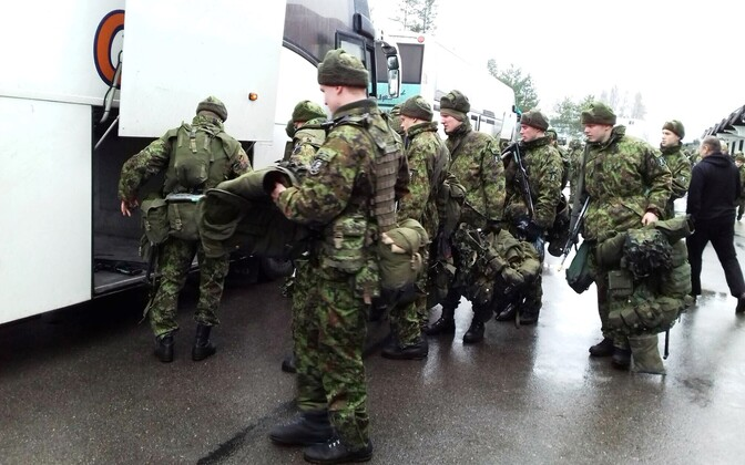 Nearly 250 Estonian soldiers and conscripts will participate in this year's Iron Sword exercise in Lithuania. Nov. 17, 2016.