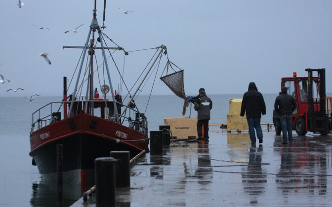 A trawler in Leppneeme, Muuga Bay.