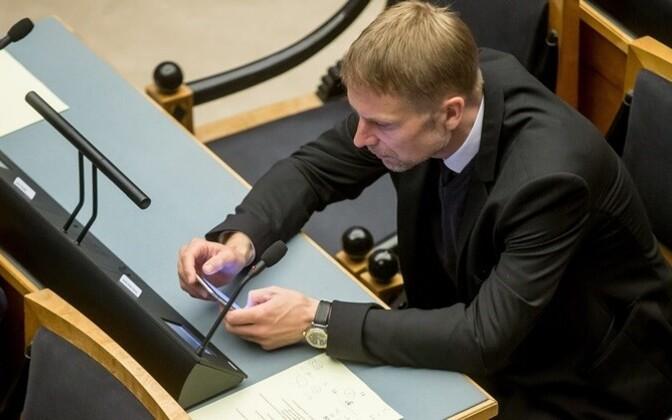 Eerik-Niiles Kross in the Riigikogu.