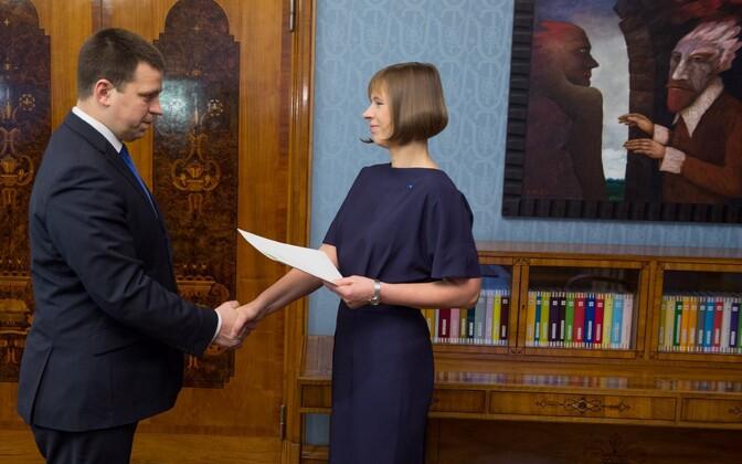 President tegi Jüri Ratasele ettepaneku valitsuse moodustamiseks