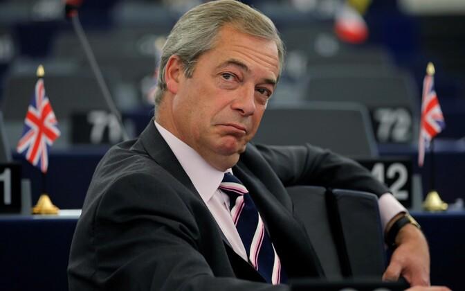 UKIP-i liider Nigel Farage Euroopa Parlamendis.