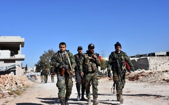 Сирийские войска в Алеппо.