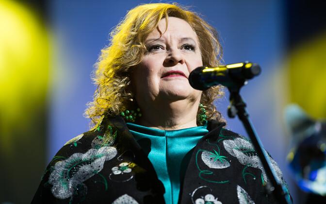 Tiina Lokk PÖFFi lõputseremoonial.