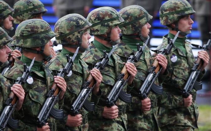 Serbia sõdurid 2014. aasta sõjaväeparaadil.