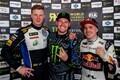 Rallikrossi MM-sarja hooaja viimane etapp Argentinas. Johan Kristoffersson (vasakult), Andreas Bakkerud ja Toomas Heikkinen.
