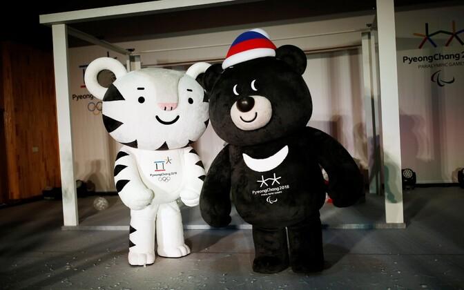 2018. aasta PyeongChangi olümpia maskotid.