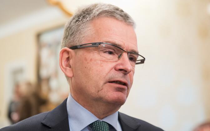 Helsingi linnapea Jussi Pajunen pressikonverentsil Tallinnas 29. novembril 2016.