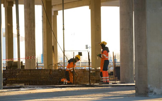 Construction work on the T1 Mall of Tallinn. Photo is illustrative.