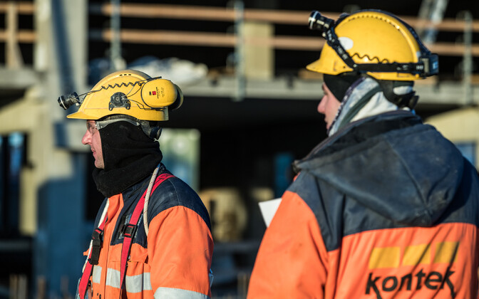 Construction workers in Estonia. Image is illustrative
