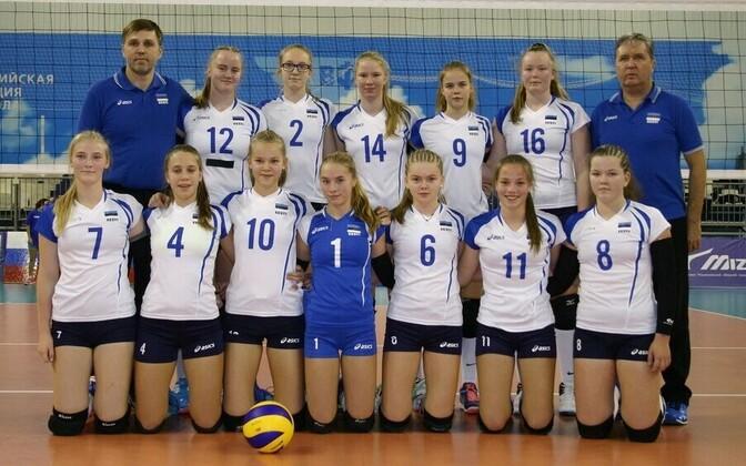 Eesti tütarlaste võrkpallikoondis (2002/2003 sünd.)