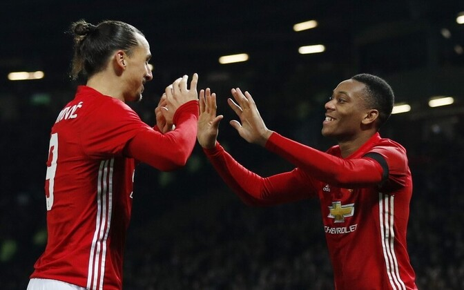 Zlatan Ibrahimovic ja Anthony Martial