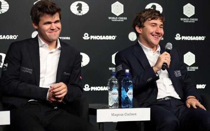 Magnus Carlsen ja Sergei Karjakin