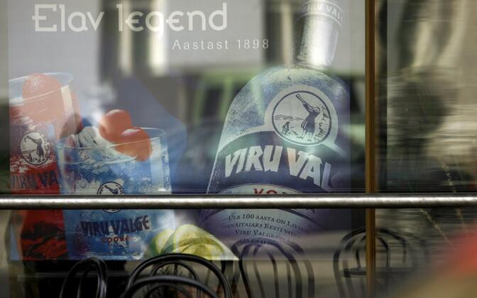 An advertisement for Estonian vodka brand Viru Valge. Photo is illustrative.