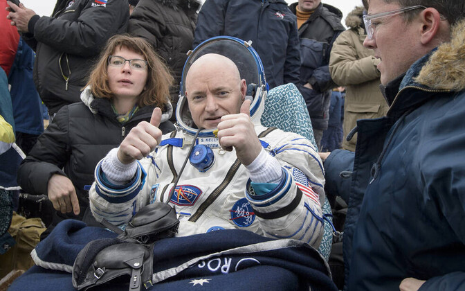 Astronaut Scott Kelly 2016. aasta märtsis vahetult pärast Maale naasmist.