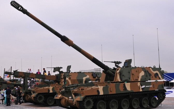 K-9 Thunder self-propelled artillery of the ROK Armed Forces.