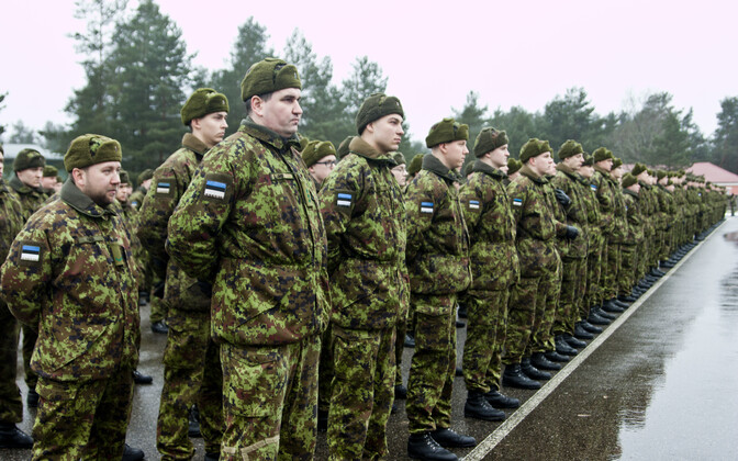 Estonian infantry soldiers.