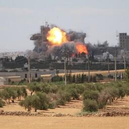 USA õhurünnak Süürias.