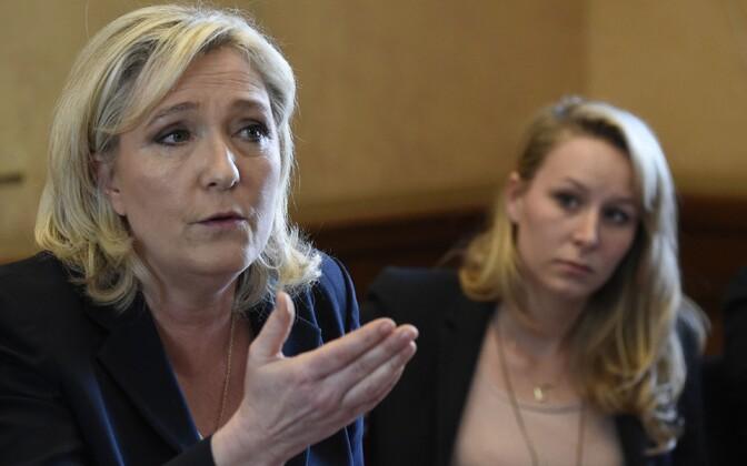 Marine Le Pen ja tema õetütar Marion Maréchal-Le Pen.