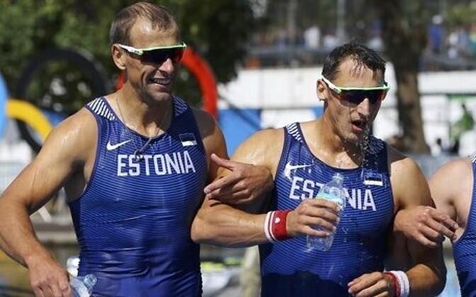 Eesti paarisaeruline neljapaat (vasakult): Kaspar Taimsoo, Tõnu Endrekson, Allar Raja, Andrei Jämsä.