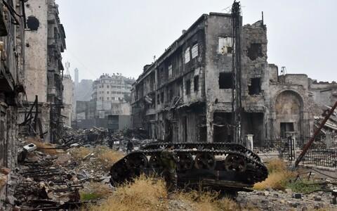 Sõjapurustused Aleppos.