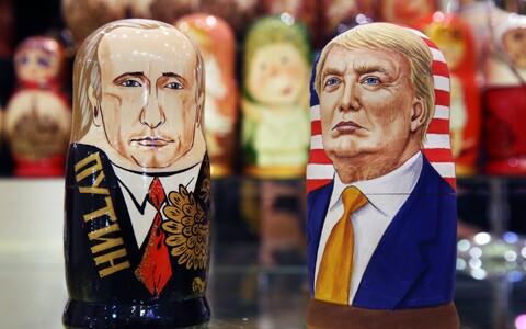 Putinit ja Trumpi kujutavad matrjoškad Moskvas.