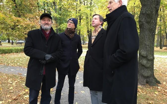 Arvo Pärt, Michael Pärt, Indrek Laul ja Venno Laul.