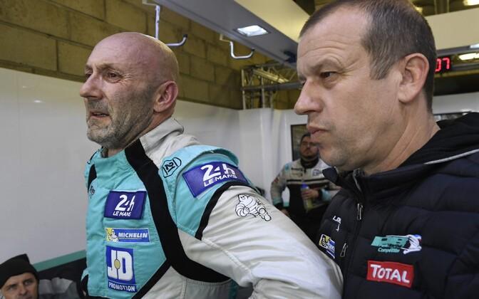 Fabien Barthez ja Olivier Panis
