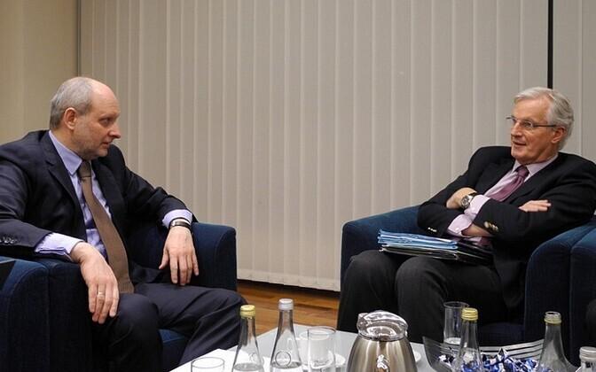 Matti Maasikas ja Michel Barnier.