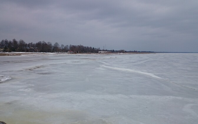 Лед на Чудском озере.