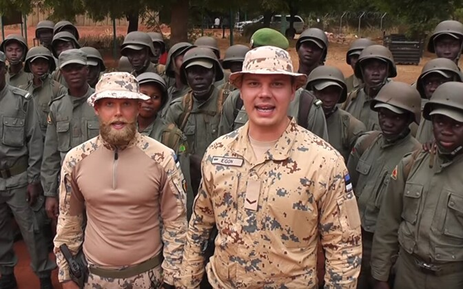 Estonian soldiers in Mali.