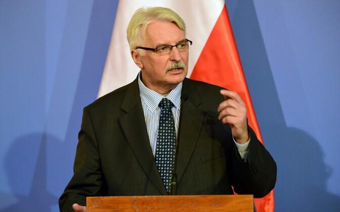 Poola välisminister Witold Waszczykowski.