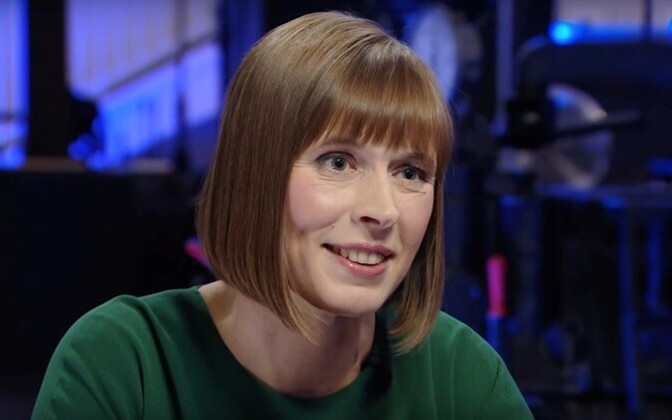 President Kersti Kaljulaid during her interview with ERR, Dec. 2016.