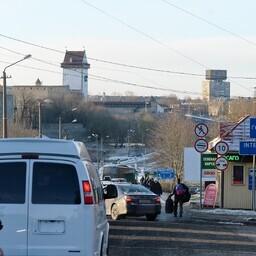 Пункт пропуска в Ивангороде.
