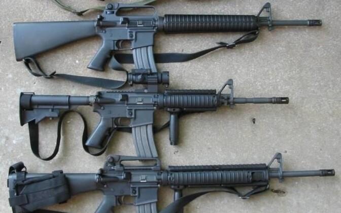 M16 automatic rifles.