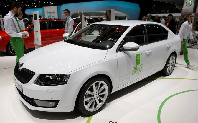 A new (at the time) Skoda Octavia.
