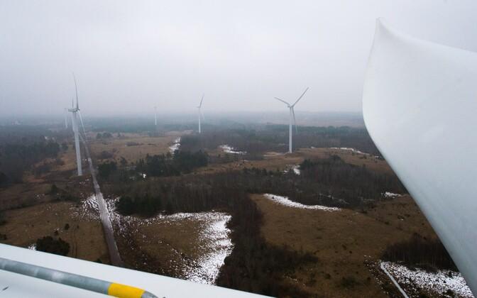 A wind farm in Paldiski, Harju County. Feb. 20, 2015.