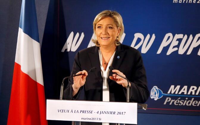 Prantsuse Rahvusrinde juht Marine Le Pen.
