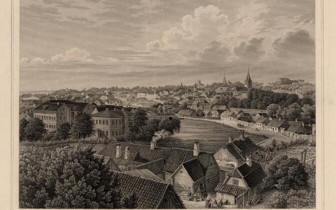 Tartu vaade aastal 1866.