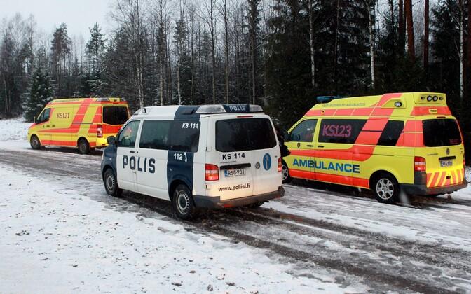 Soome politsei ja kiirabi.