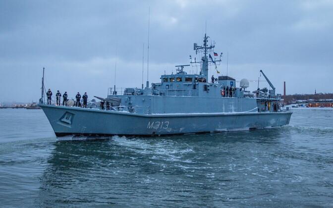 EML Admiral Cowan liitus NATO 1. alalise miinitõrjegrupiga.